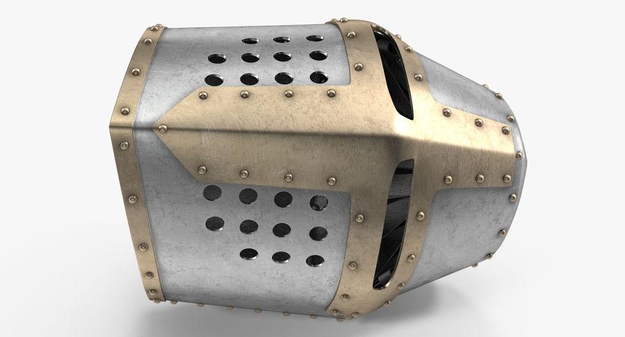 Casque de topfhelm royalty-free 3d model - Preview no. 9