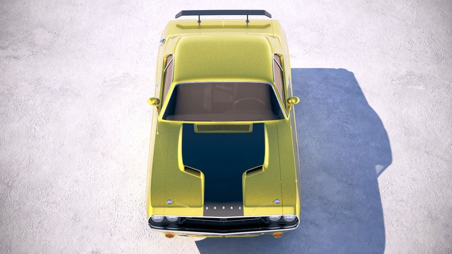 Dodge Challenger 1970 with interior royalty-free 3d model - Preview no. 9