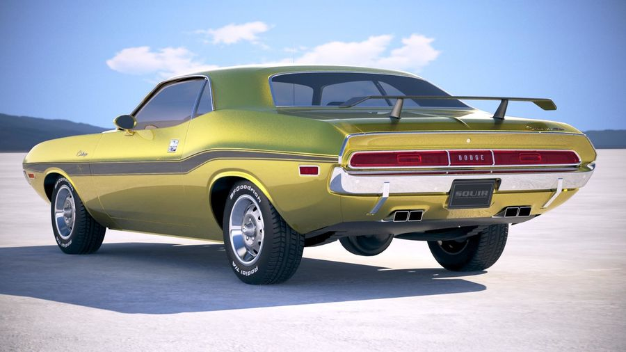 Dodge Challenger 1970 with interior royalty-free 3d model - Preview no. 14