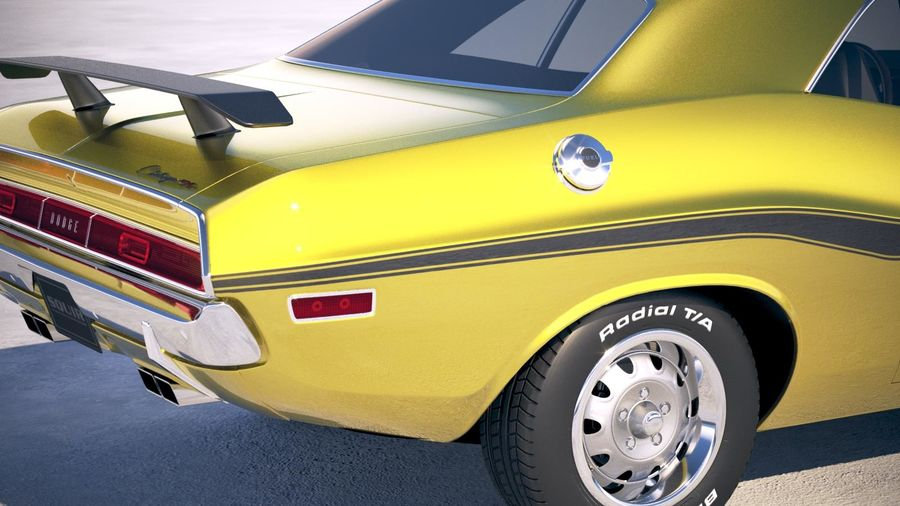 Dodge Challenger 1970 with interior royalty-free 3d model - Preview no. 4