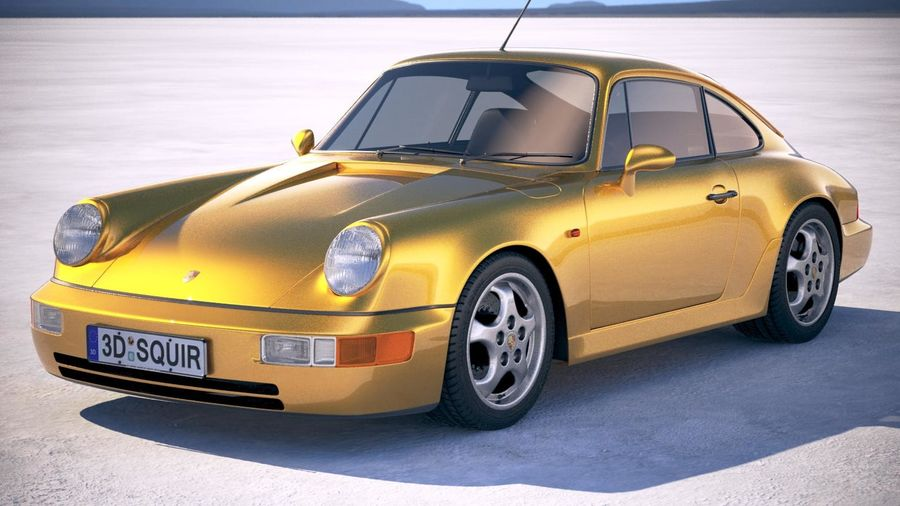 Porsche 911 964 Carrera 1990 royalty-free 3d model - Preview no. 1