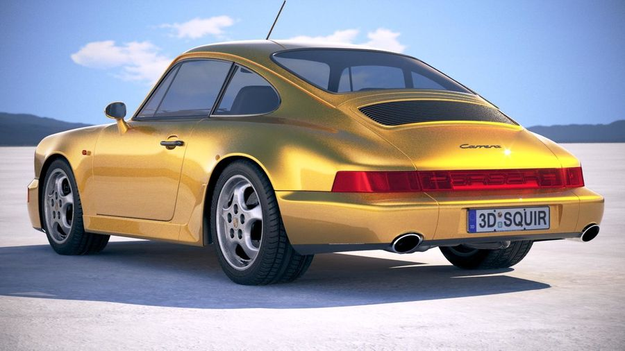 Porsche 911 964 Carrera 1990 royalty-free 3d model - Preview no. 14