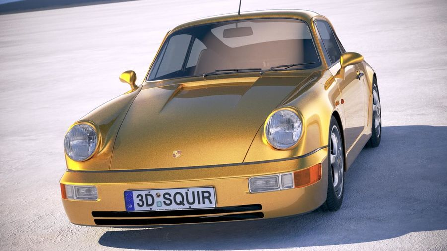 Porsche 911 964 Carrera 1990 royalty-free 3d model - Preview no. 2