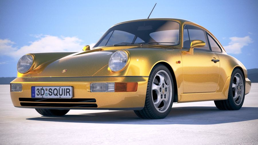 Porsche 911 964 Carrera 1990 royalty-free 3d model - Preview no. 13