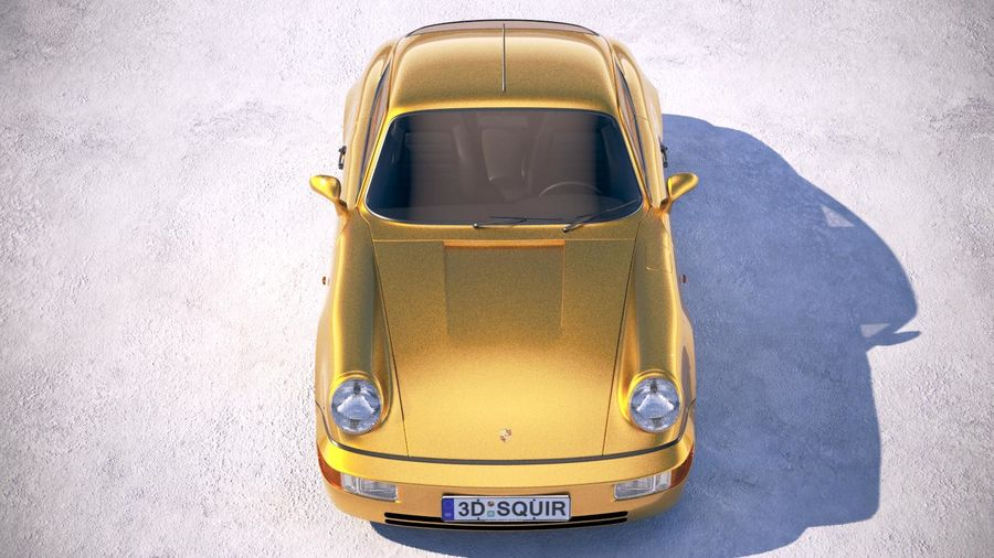 Porsche 911 964 Carrera 1990 royalty-free 3d model - Preview no. 9
