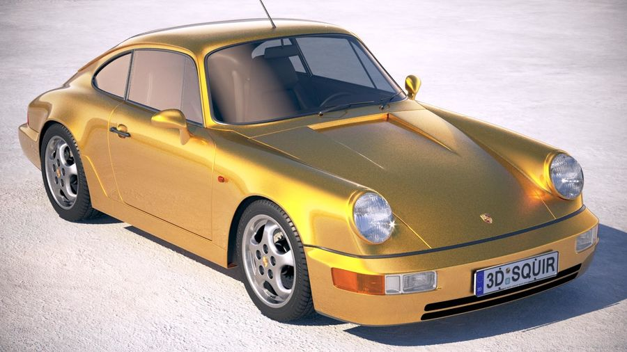 Porsche 911 964 Carrera 1990 royalty-free 3d model - Preview no. 12