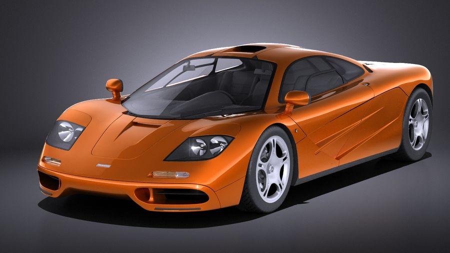 McLaren F1 1994-1998 royalty-free 3d model - Preview no. 1
