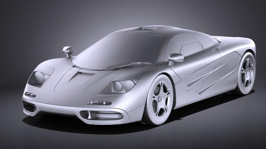 McLaren F1 1994-1998 royalty-free 3d model - Preview no. 9
