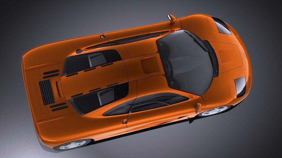 McLaren F1 1994-1998 royalty-free 3d model - Preview no. 8