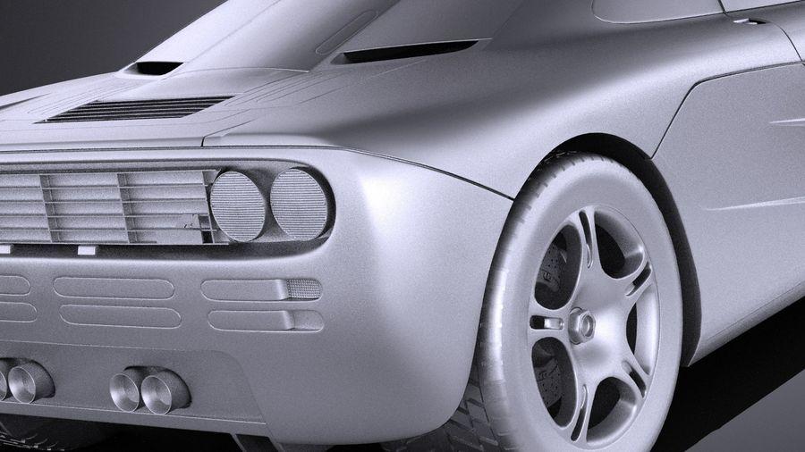 McLaren F1 1994-1998 royalty-free 3d model - Preview no. 11