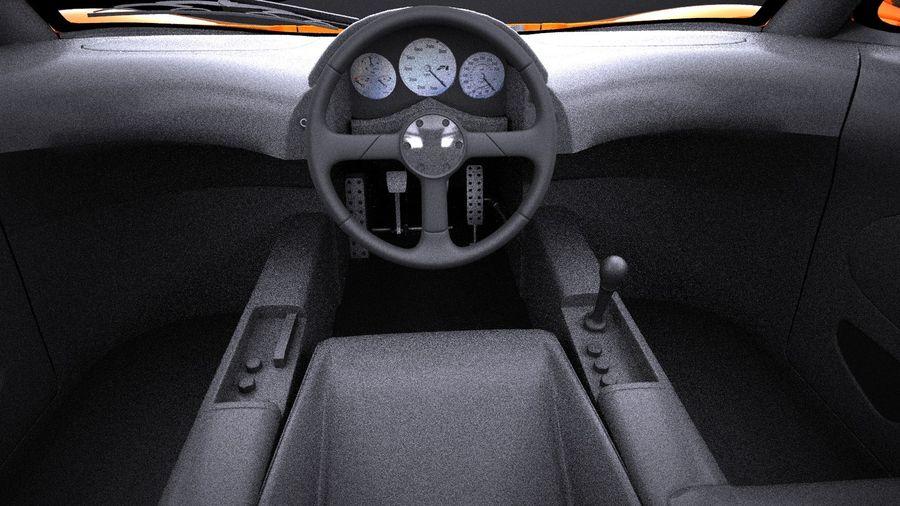 McLaren F1 1994-1998 royalty-free 3d model - Preview no. 13