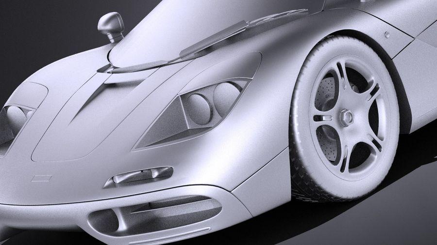McLaren F1 1994-1998 royalty-free 3d model - Preview no. 10