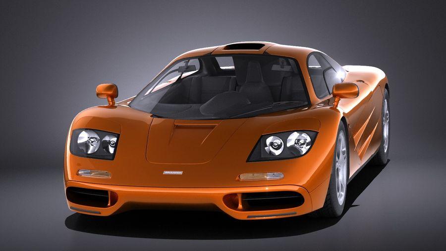 McLaren F1 1994-1998 royalty-free 3d model - Preview no. 2