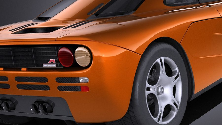 McLaren F1 1994-1998 royalty-free 3d model - Preview no. 4