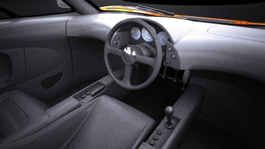 McLaren F1 1994-1998 royalty-free 3d model - Preview no. 14