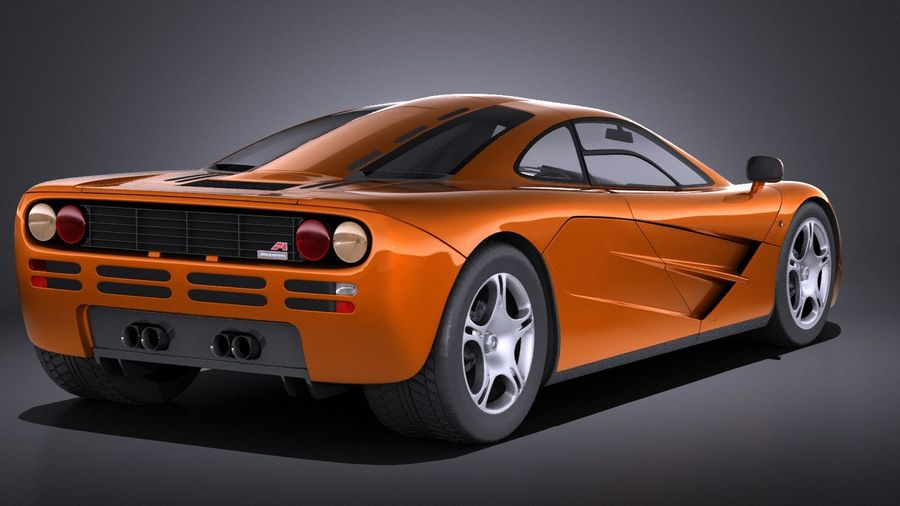 McLaren F1 1994-1998 royalty-free 3d model - Preview no. 6