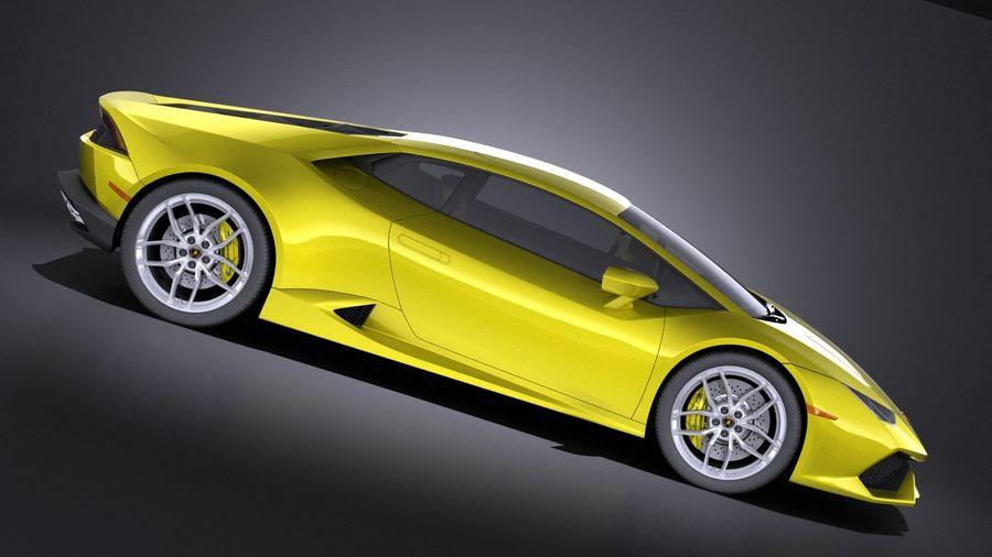 Lamborghini Huracan LP610-4 2016 VRAY royalty-free 3d model - Preview no. 7