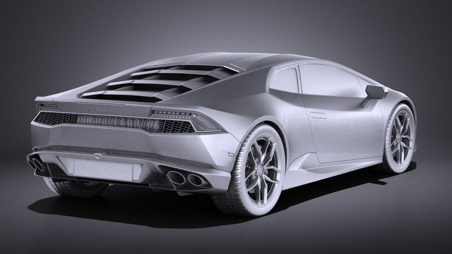 Lamborghini Huracan LP610-4 2016 VRAY royalty-free 3d model - Preview no. 12