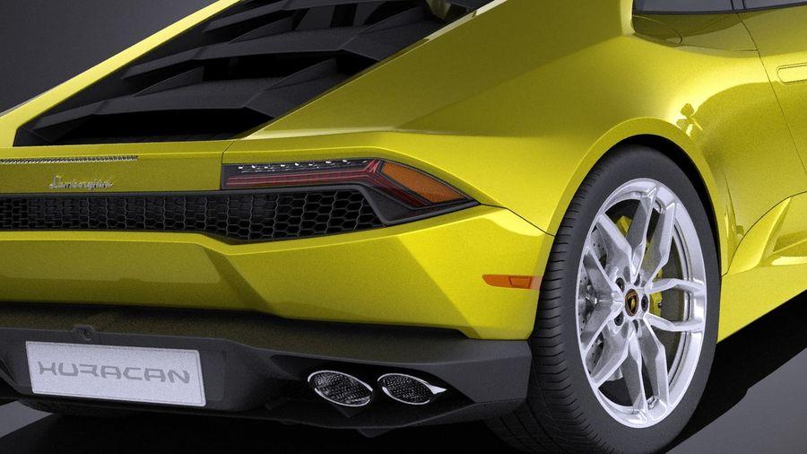 Lamborghini Huracan LP610-4 2016 VRAY royalty-free 3d model - Preview no. 4