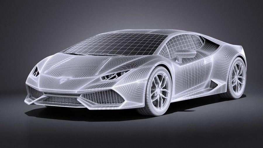 Lamborghini Huracan LP610-4 2016 VRAY royalty-free 3d model - Preview no. 16