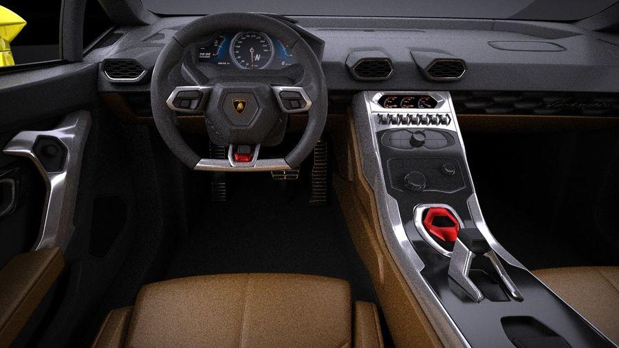 Lamborghini Huracan LP610-4 2016 VRAY royalty-free 3d model - Preview no. 13