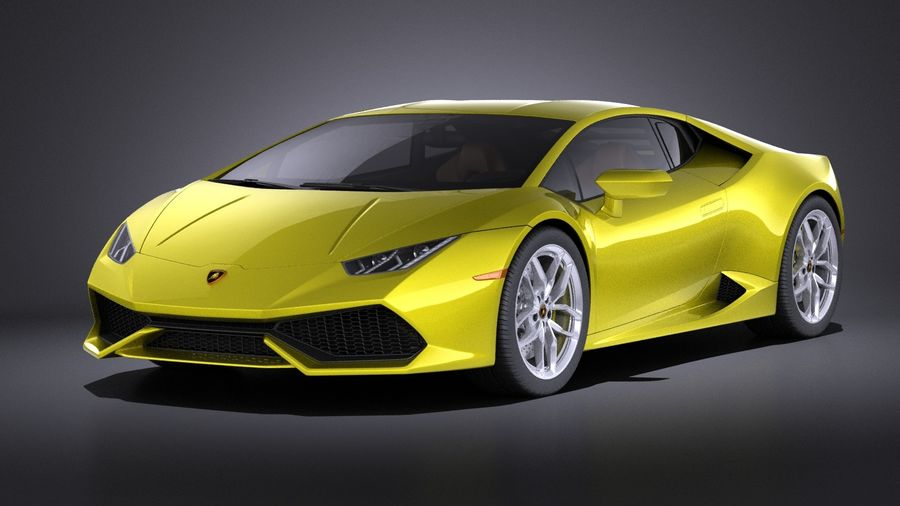 Lamborghini Huracan LP610-4 2016 VRAY royalty-free 3d model - Preview no. 1