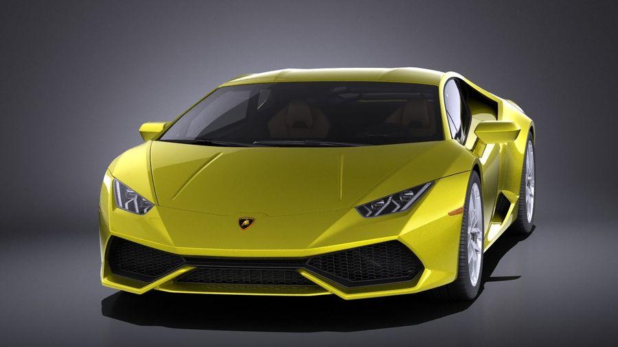 Lamborghini Huracan LP610-4 2016 VRAY royalty-free 3d model - Preview no. 2