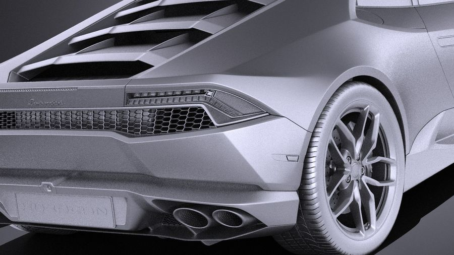 Lamborghini Huracan LP610-4 2016 VRAY royalty-free 3d model - Preview no. 11