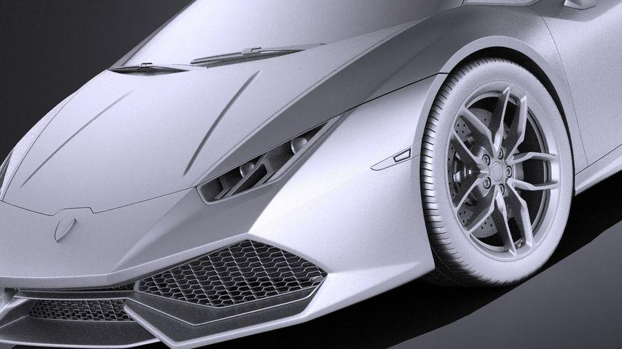 Lamborghini Huracan LP610-4 2016 VRAY royalty-free 3d model - Preview no. 10