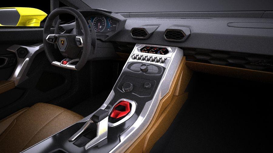 Lamborghini Huracan LP610-4 2016 VRAY royalty-free 3d model - Preview no. 14