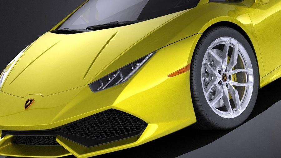 Lamborghini Huracan LP610-4 2016 VRAY royalty-free 3d model - Preview no. 3