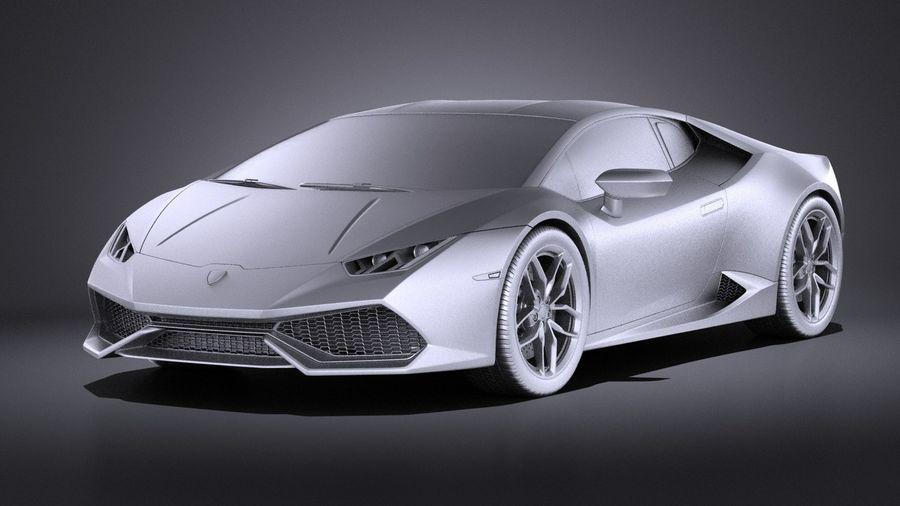 Lamborghini Huracan LP610-4 2016 VRAY royalty-free 3d model - Preview no. 9
