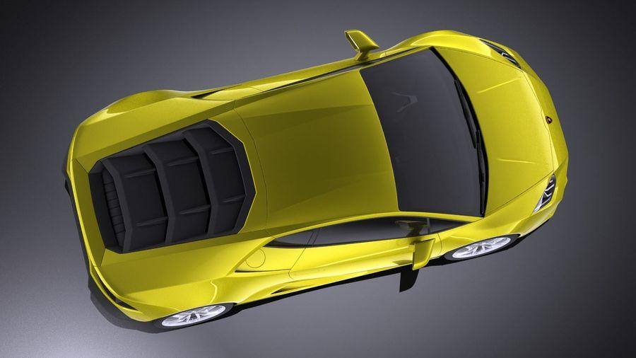 Lamborghini Huracan LP610-4 2016 VRAY royalty-free 3d model - Preview no. 8