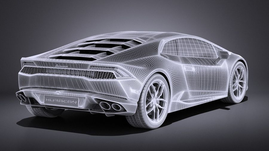 Lamborghini Huracan LP610-4 2016 VRAY royalty-free 3d model - Preview no. 17