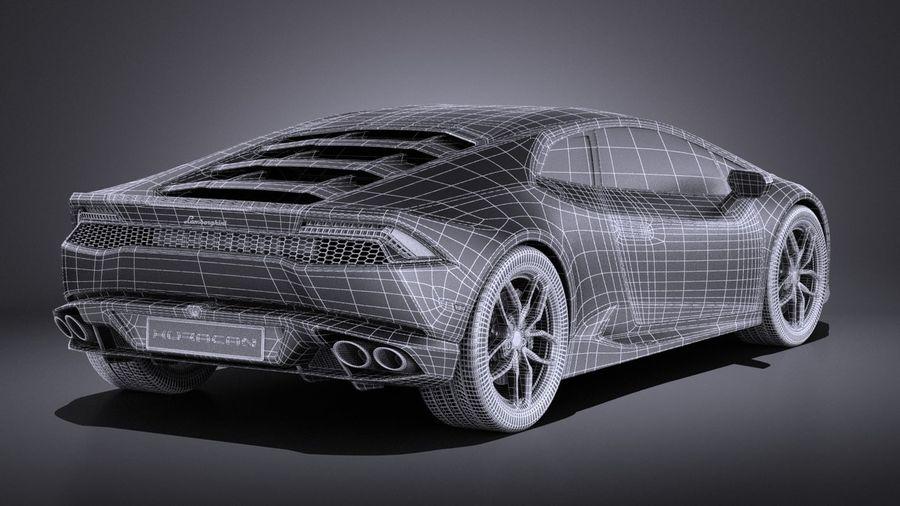 Lamborghini Huracan LP610-4 2016 VRAY royalty-free 3d model - Preview no. 19