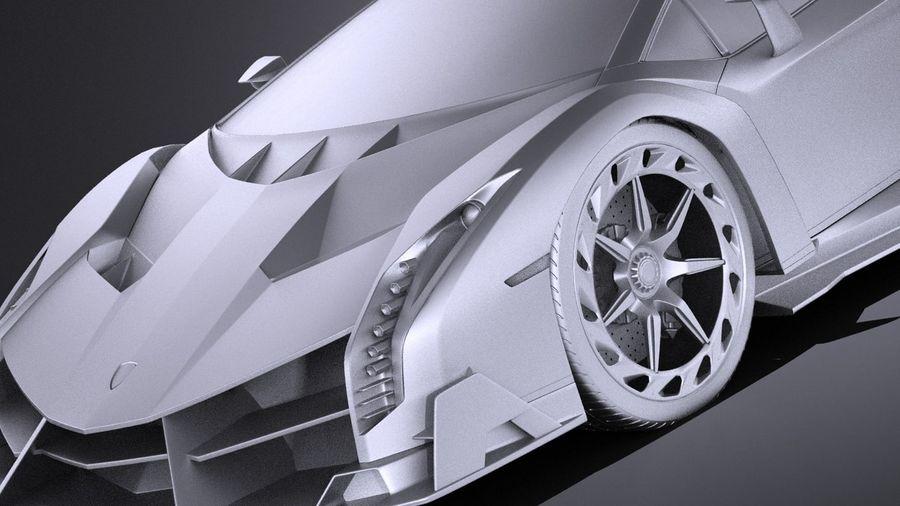 Lamborghini Veneno 2016 VRAY royalty-free 3d model - Preview no. 10