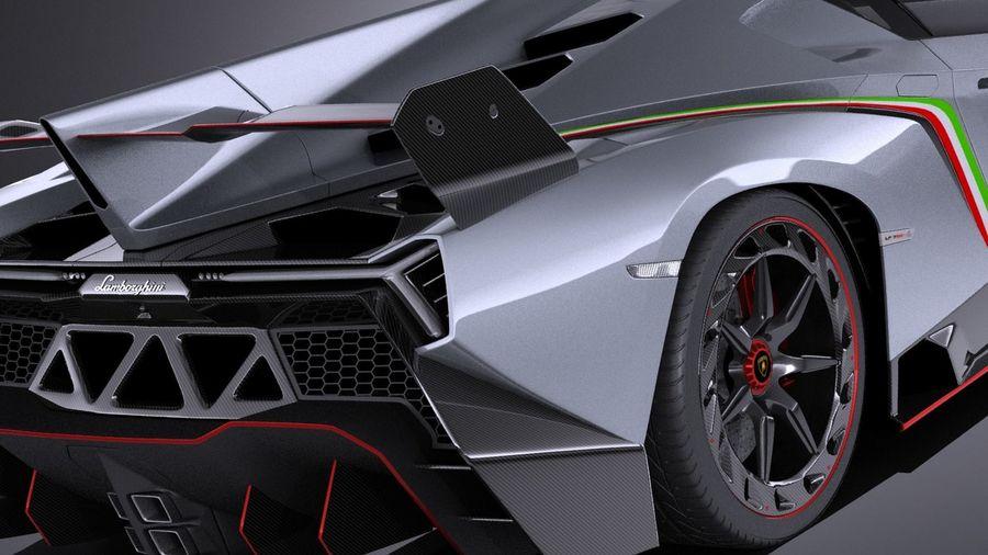 Lamborghini Veneno 2016 VRAY royalty-free 3d model - Preview no. 4
