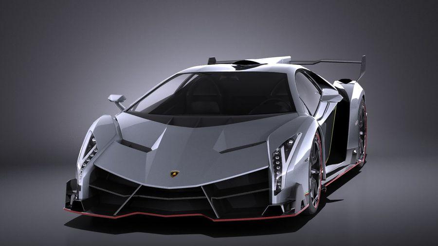 Lamborghini Veneno 2016 VRAY royalty-free 3d model - Preview no. 2