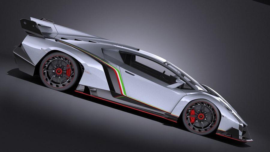 Lamborghini Veneno 2016 VRAY royalty-free 3d model - Preview no. 7
