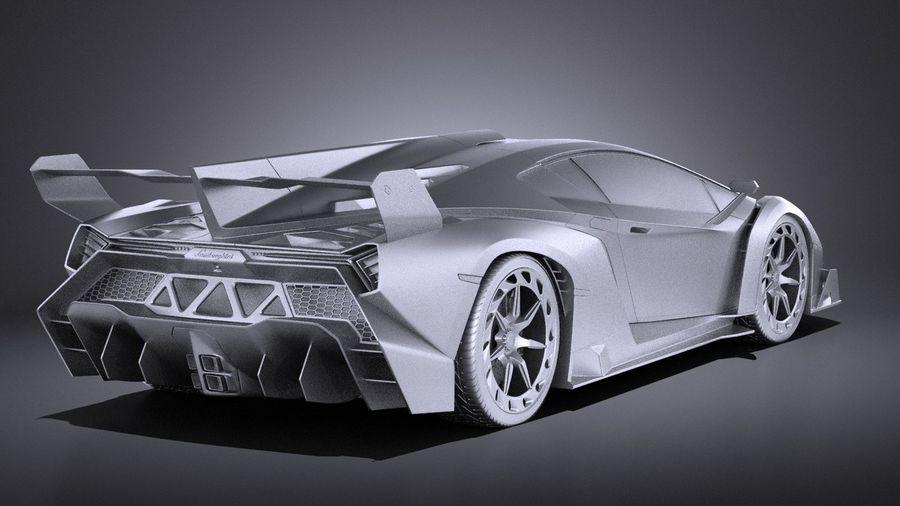 Lamborghini Veneno 2016 VRAY royalty-free 3d model - Preview no. 12