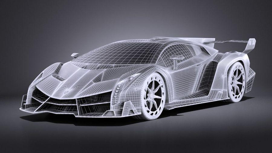Lamborghini Veneno 2016 VRAY royalty-free 3d model - Preview no. 13