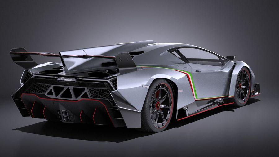 Lamborghini Veneno 2016 VRAY royalty-free 3d model - Preview no. 6