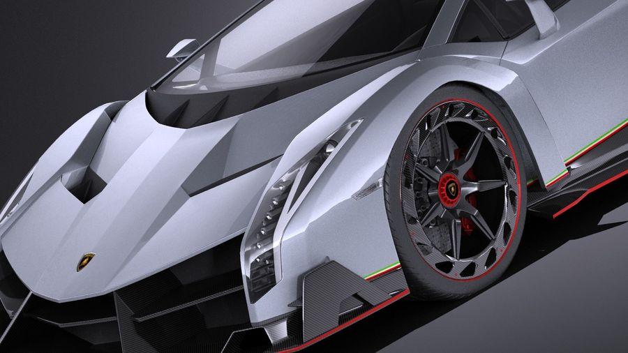 Lamborghini Veneno 2016 VRAY royalty-free 3d model - Preview no. 3