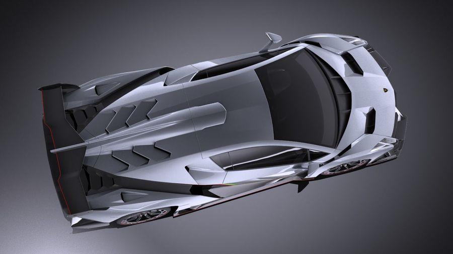 Lamborghini Veneno 2016 VRAY royalty-free 3d model - Preview no. 8