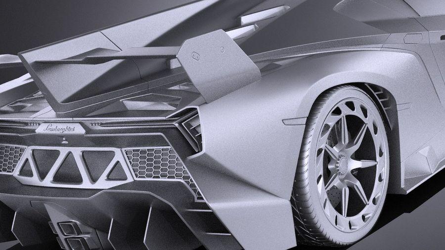 Lamborghini Veneno 2016 VRAY royalty-free 3d model - Preview no. 11