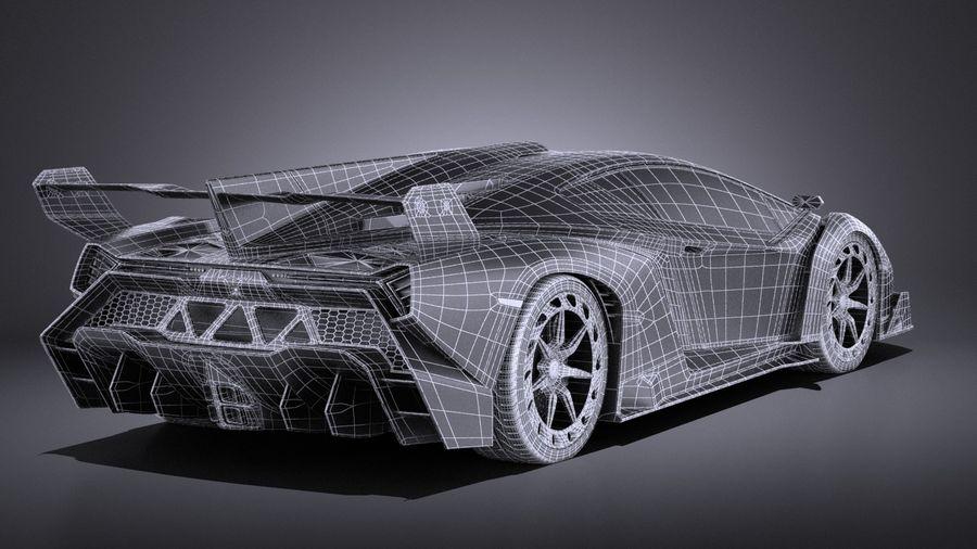Lamborghini Veneno 2016 VRAY royalty-free 3d model - Preview no. 16