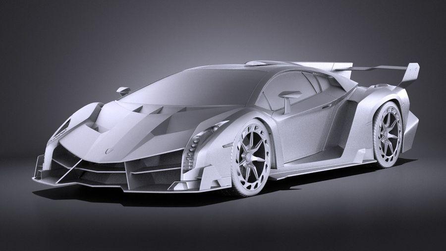 Lamborghini Veneno 2016 VRAY royalty-free 3d model - Preview no. 9