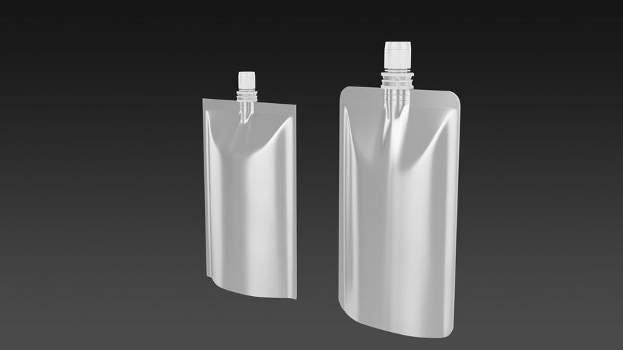Sachet royalty-free 3d model - Preview no. 3