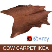 Ikea Koldby brown cow hide carpet rug for photorealistic interior vizualisation 3d model