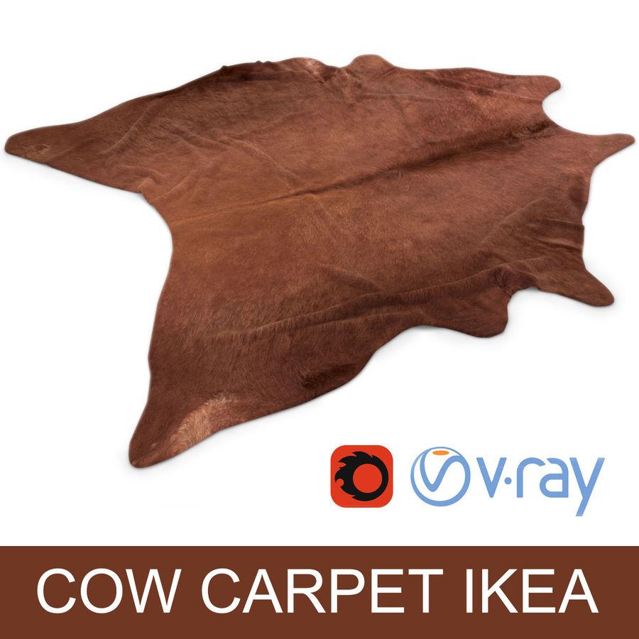 tapis ikea koldby en peau de vache brune pour une. Black Bedroom Furniture Sets. Home Design Ideas